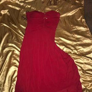 Laundry by Shelli Segal red strapless dress.